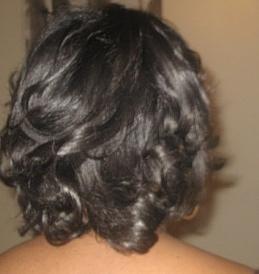 relaxed hair curls
